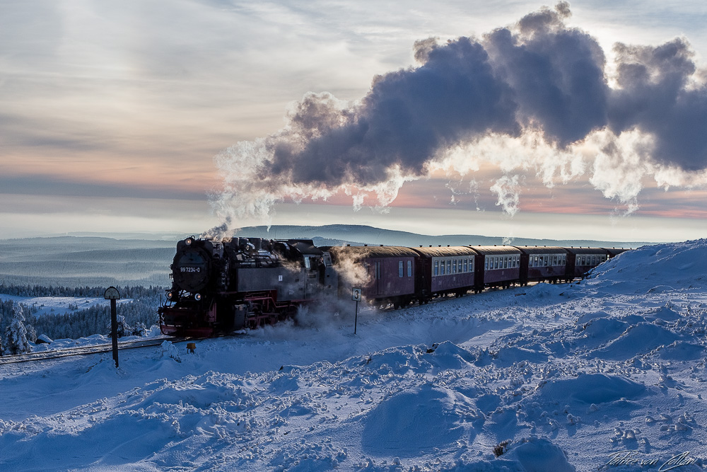 Harzer Schmalspurbahn Schnee