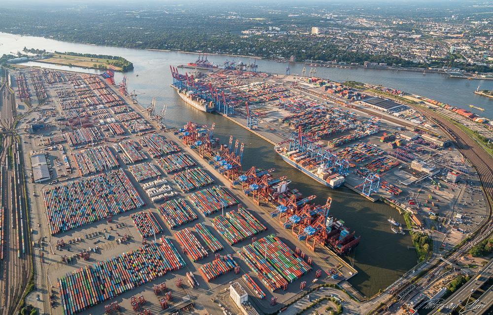Luftbild Container Terminal Eurogate & Burchardkai