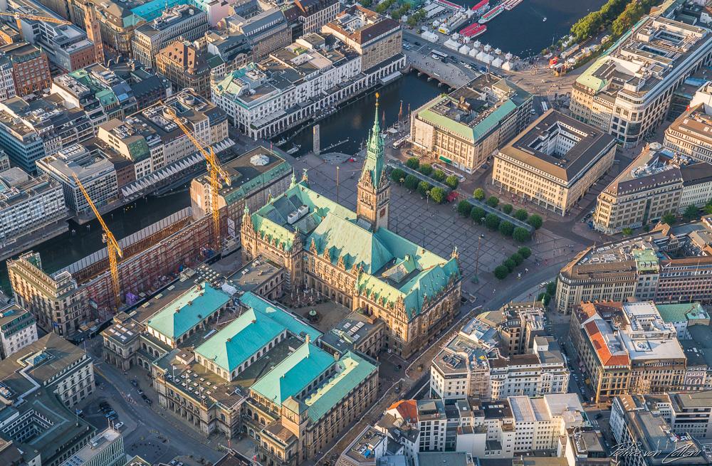 Luftbild Hamburger Rathaus
