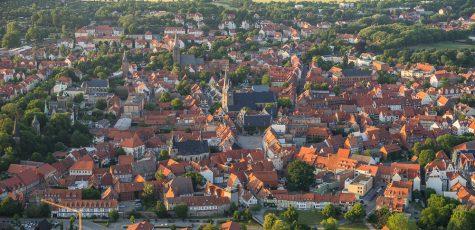 Luftbild Quedlinburg Abends 9