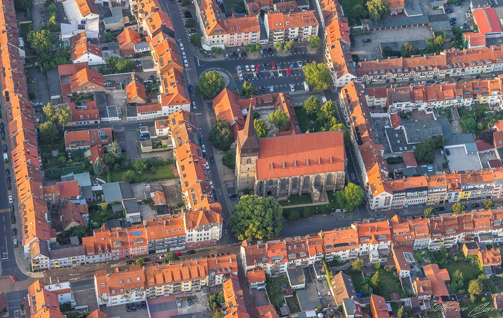 Luftbild St. Lamberti Kirche Hildesheim