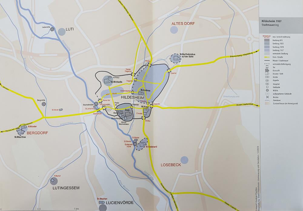 Karte Pischke Hildesheim 1167
