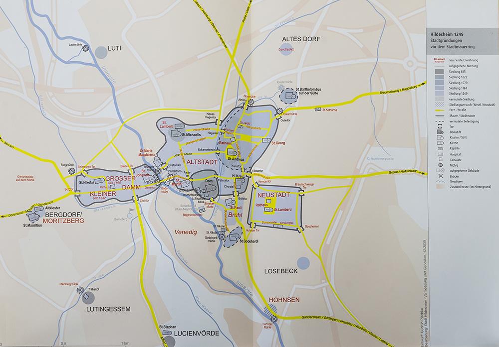 Karte Pischke Hildesheim 1249