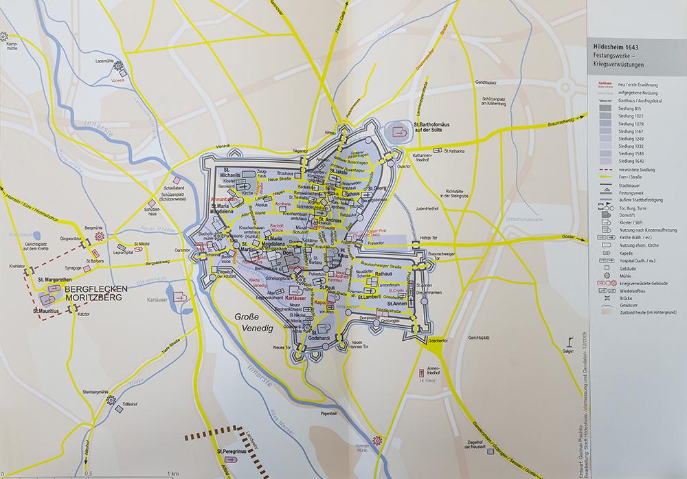 Karte Pischke Hildesheim 1643