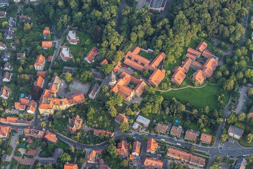 Luftbild St. Mauritius-Kirche Hildesheim