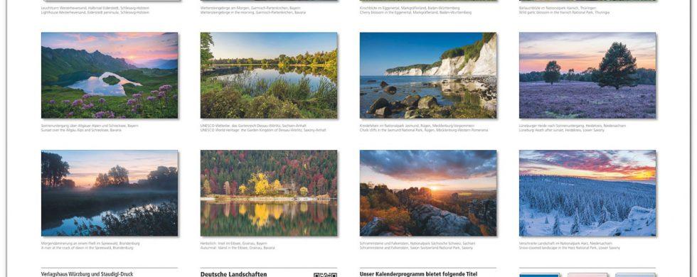 Kalender Deutsche Landschaften 2019 Fotos